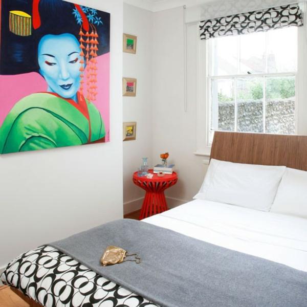 Modernes Schlafzimmer Kunstwerk Wand