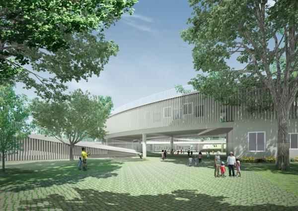 nachhaltige architektur kindergarten heute grünes design kinderspielplatz