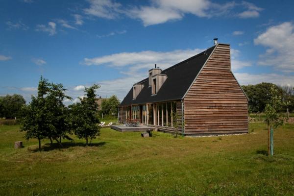 nachhaltige architektur prärienhaus gartengestaltung ideen wilde natur