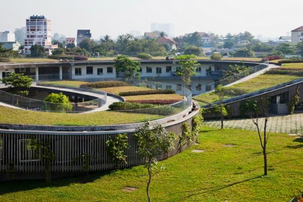 nachhaltiges design kindergarten heute grüne architektur vietnam