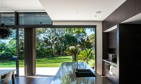 neuseeland architektenhaus innendesign moderne küche