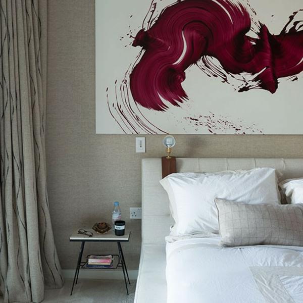 neutral schlafzimmer design weiß bettwäsche