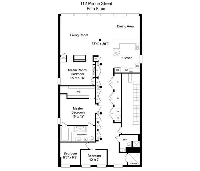 new york stadtwohnung wohnplan architektur und design