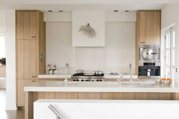 nichtrostender edelstahl küchenarmatur moderne küche holzküche insel arbeitsplatte