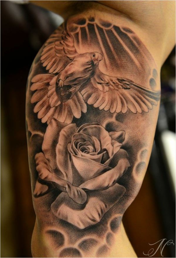 tattoo designs motive vogel rose cool