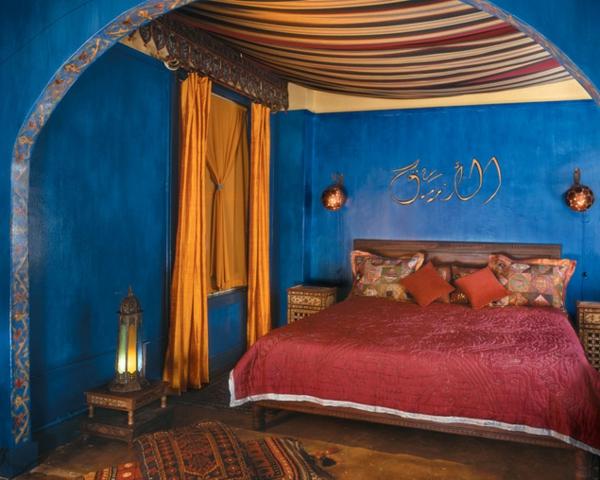 Design Marokkanisches Schlafzimmer Blau