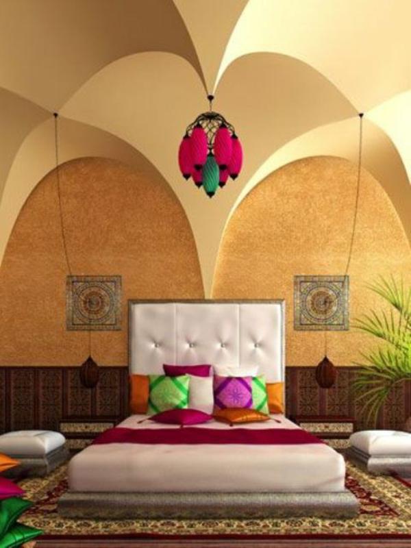 design schlafzimmer bett dekorative decke - Schlafzimmer Ideen Orientalisch
