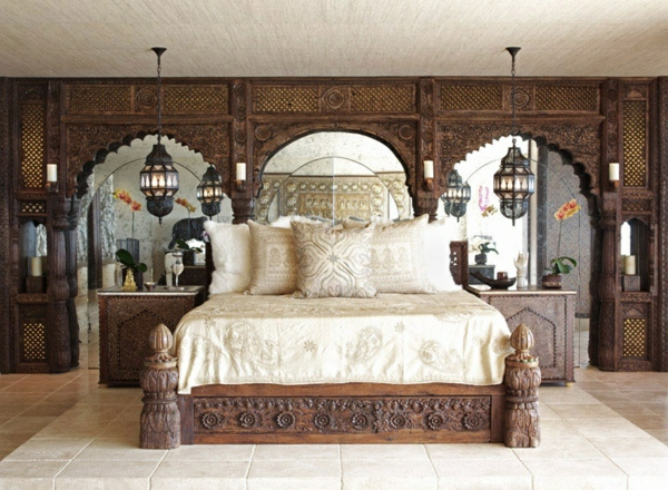 Schön Attraktive Schlafzimmermöbel Im Orientalischen Stil. Design Schlafzimmer  Bett Unique Dekoideen