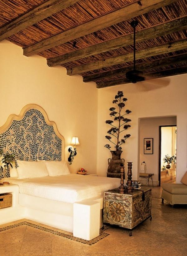 design orientalisches schlafzimmer dachschrge holzdecke