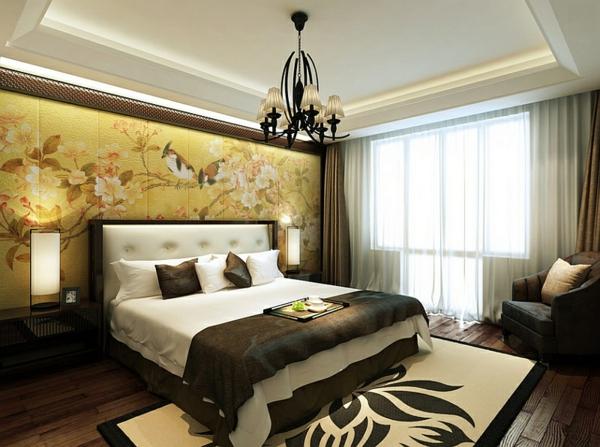 orientalisches schlafzimmer gestalten - wie im märchen wohnen - Wanddeko Schlafzimmer