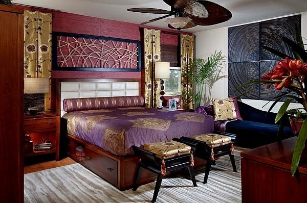 orientalisches schlafzimmer gestalten - wie im märchen wohnen - Schlafzimmer Lila Braun