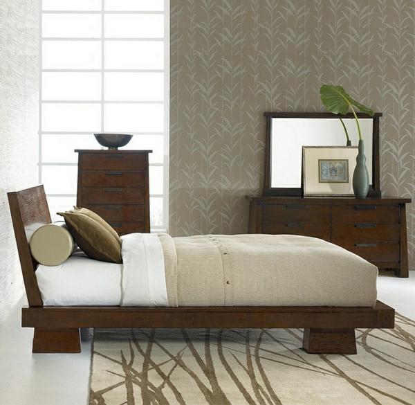 Nauhuri Orientalisches Schlafzimmer Dekoration Neuesten Asiatisches Design Japanische Dekotapete