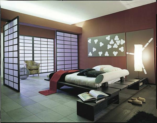 Schlafzimmer asiatisches design tolle dekoideen