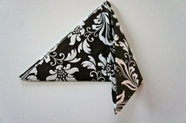 papierservietten falten tischdeko ideen servietten falten anleitung