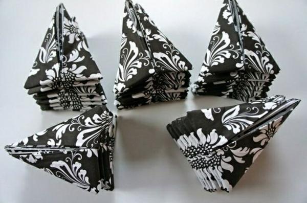 papierservietten falttechnik servietten falten anleitung