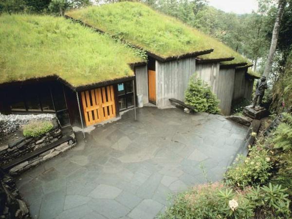 design garten dachbegrünung gartenhaus umweltfreundlich