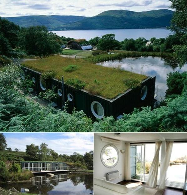 landschaft dachbegrünung gartenhaus schön