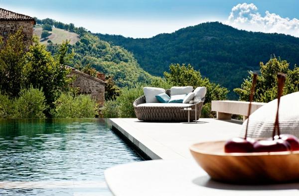 patio lounge möbel outdoor moderne loungebetten