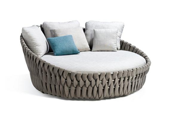 patio lounge möbel outdoor modernes loungebett dekokissen
