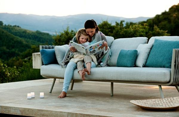 lounge möbel outdoor modernes sofa plüsch