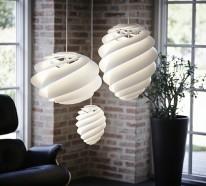 designer leuchten - pendelleucheten mit spiralförmigem design - Wohnzimmer Design Leuchten