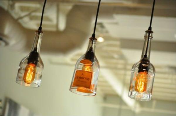 unique diy lampe aus weinflasche tolle dekoration