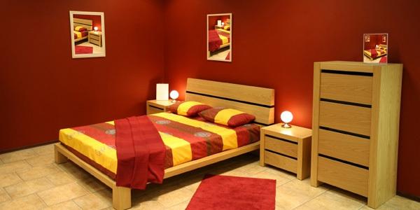 schlafzimmer gold rot beleuchtung