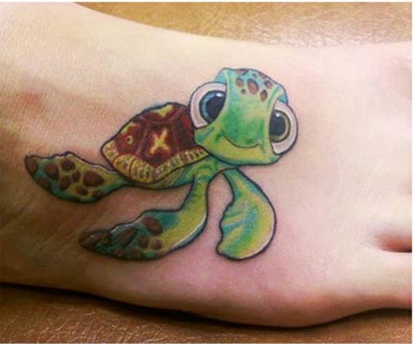 schildkröte tattoo fuß tattoos ideen