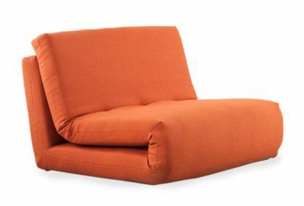 schlafsessel ideen orange zimmer