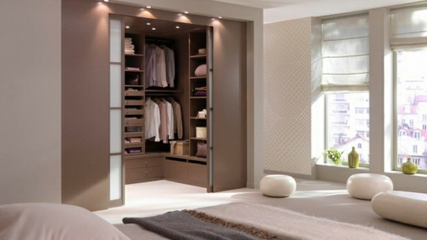 Schlafzimmer Ankleidezimmer Planen Offener Kleiderschränke ...    Schlafzimmer Mit Begehbarem