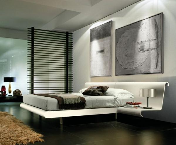 schlafzimmer gestalten deko Schlafzimmergestaltung und Wandfarben gemälde