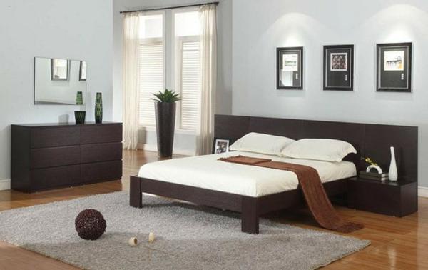 schlafzimmer einrichten deko ideen bodenbelag holz gestell