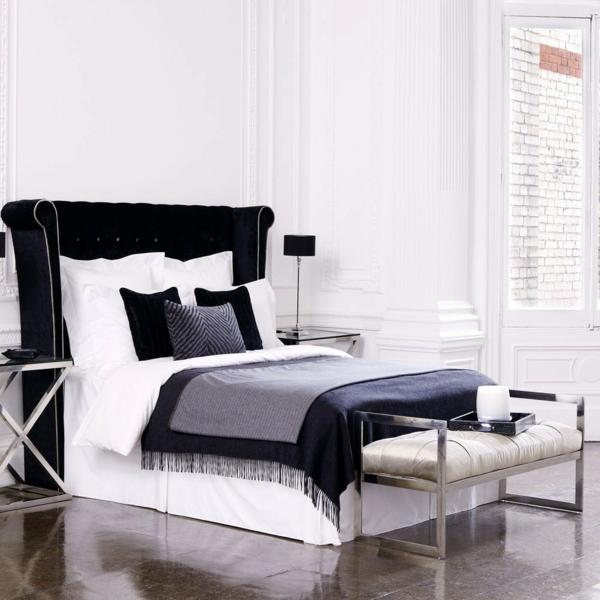 Schlafzimmer Einrichten Deko Ideen Schlafzimmergestaltung Grau Schwarz