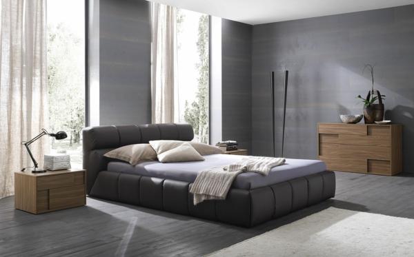schlafzimmer einrichten graues bett | möbelideen, Badezimmer