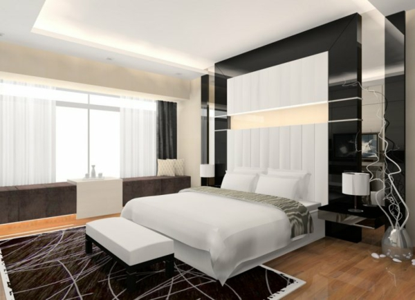 schlafzimmer einrichten deko Schlafzimmergestaltung und Wandfarben