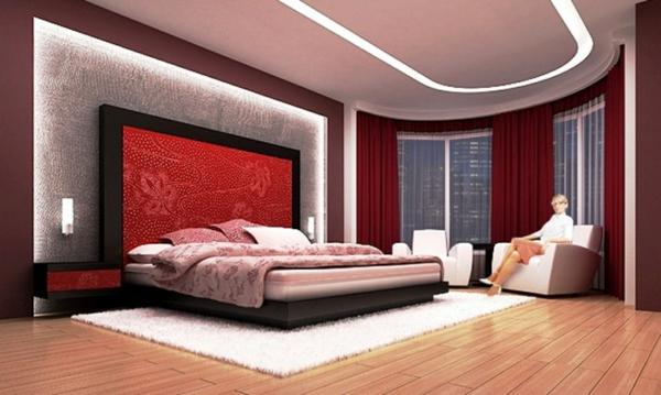 Kunst Luxus Schlafzimmer Rot Mit Schlafzimmer Rotem Teppich Und,  Schlafzimmer Entwurf