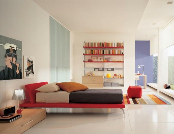 schlafzimmer einrichten deko ideen schlafzimmergestaltung rot