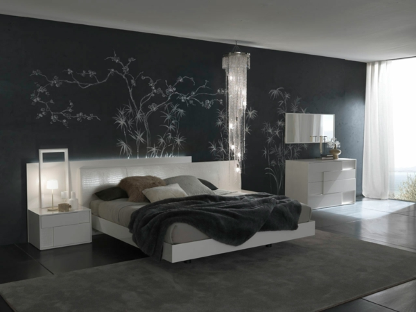 schlafzimmer einrichten brauntne schlafzimmer einrichten deko ideen schlafzimmergestaltung stehlampe - Schlafzimmer Gestalten Brauntne