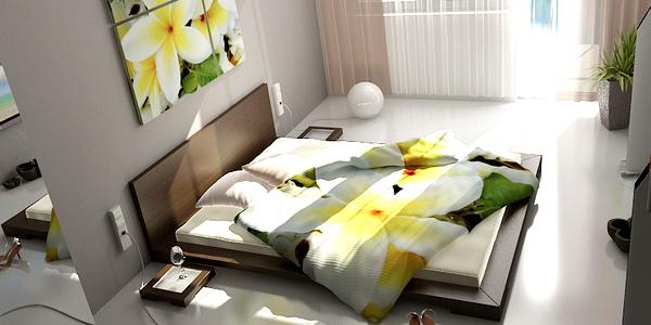 schlafzimmer einrichten gestalten ideen bettwäsche