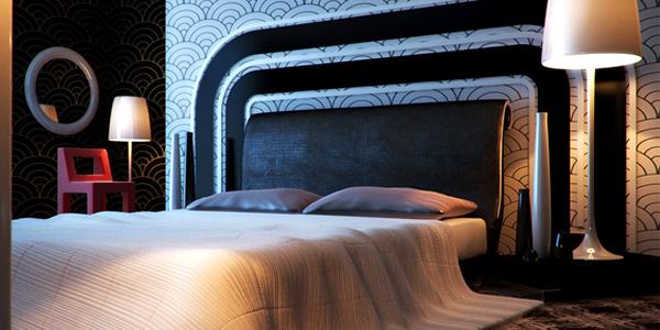 schlafzimmer einrichten gestalten ideen nachttischlampe
