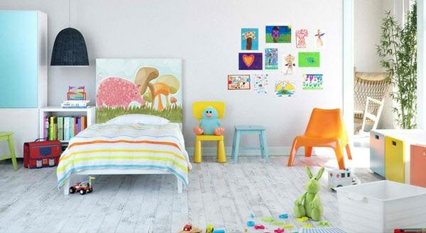 schlafzimmer einrichtungsideen bettkopfteil kreative wandgestaltung kinderzimmer gestalten