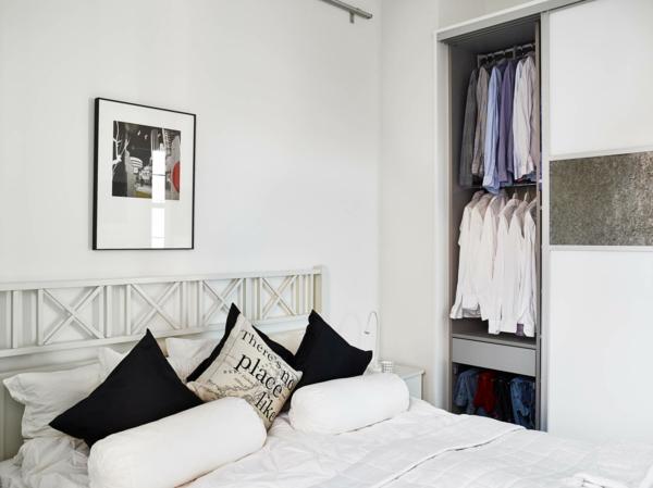 schlafzimmer einrichtungsideen skandinavisches design weiß minimalistisch stilvoll