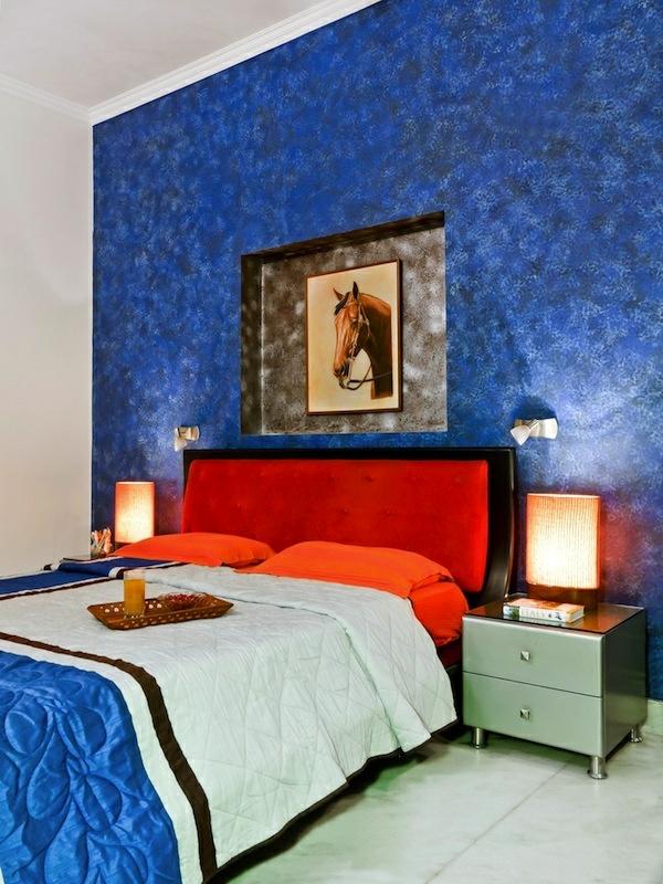 Schlafzimmer ideen wandgestaltung blau - Wandgestaltung schlafzimmer effektvolle ideen ...