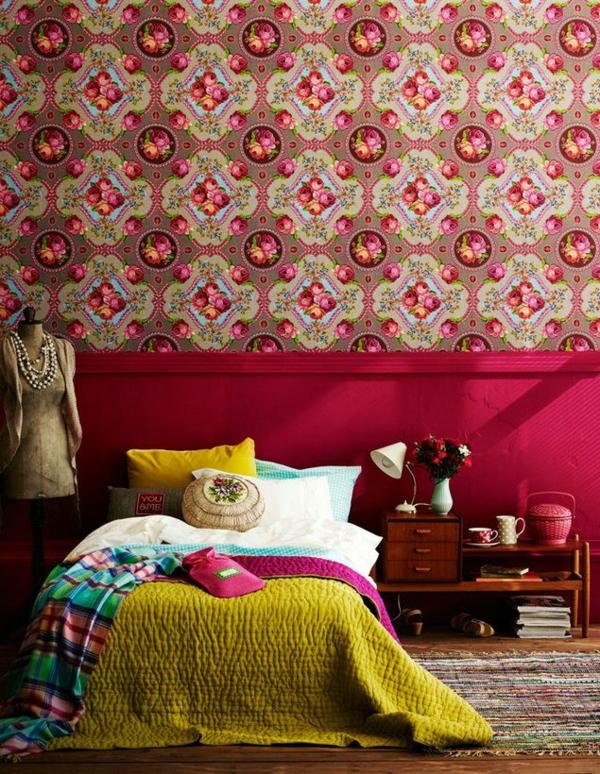 Schlafzimmer Tapeten Farben : Farbideen Schlafzimmer ? einflu?reiche Farben und Dekoration
