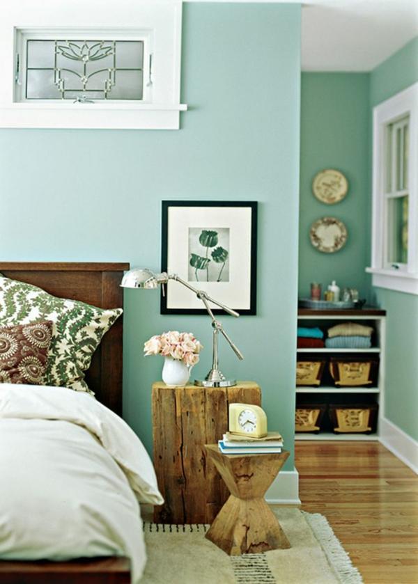 wandfarbe mintgrün verleiht ihrem wohnraum einen magischen flair - Wandfarbe Wohn Und Schlafzimmer