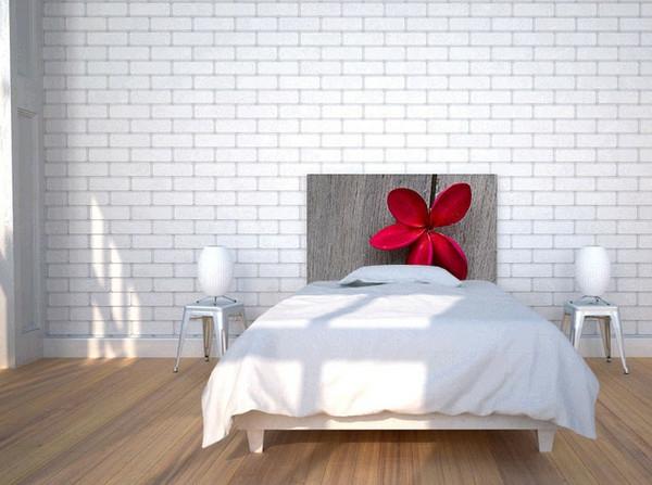 schlafzimmer bett kopfteil toll rote blumen