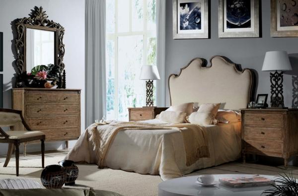 schlafzimmer gestalten neobarock stil edles holz kommode tischkonsolen homify.es