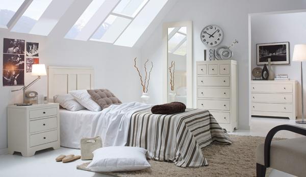 schlafzimmer gestalten weißes schlafzimmermöbel shabby chic modern dachschrägen portobellostreet.es