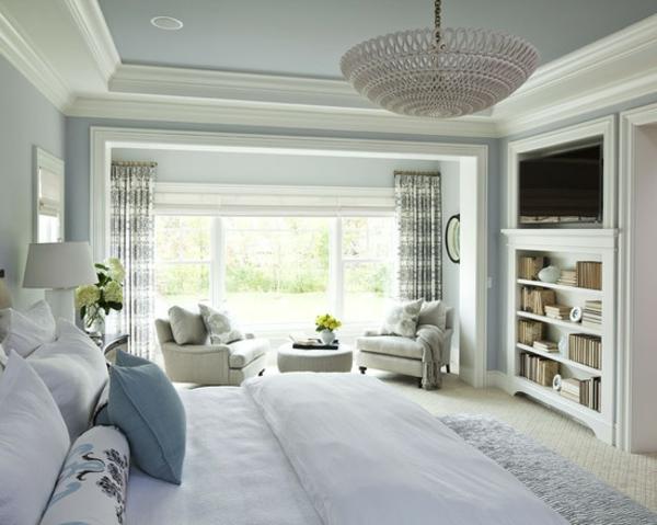 Schlafzimmer Einrichtungsideen Bett Tv Schrank Sitzecke