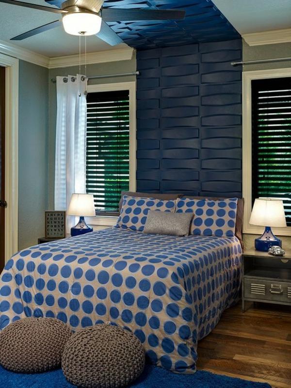 schlafzimmer ideen modern in blau